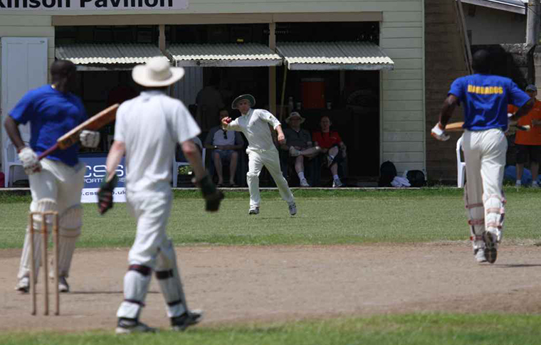 Cricketers playing